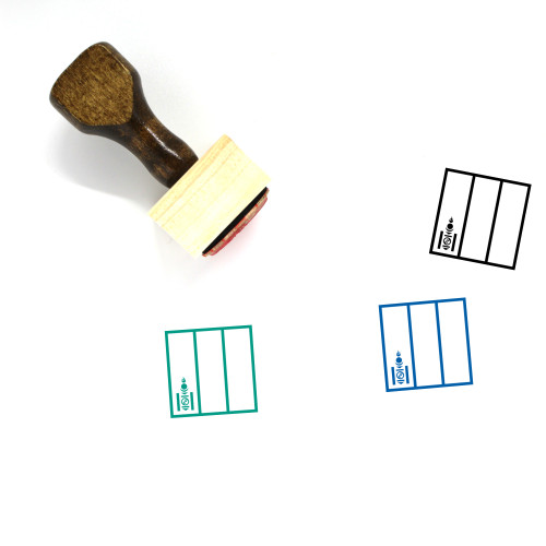 Mongolia Wooden Rubber Stamp No. 14