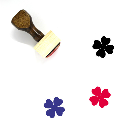 Lucky Wooden Rubber Stamp No. 4