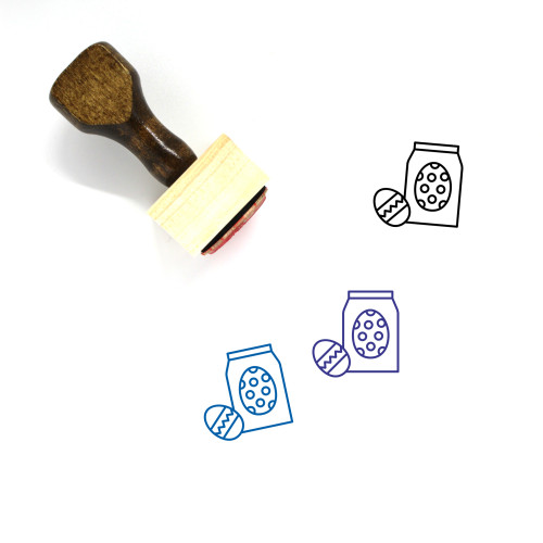 Easter Eggs Wooden Rubber Stamp No. 136