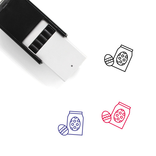 Easter Eggs Self-Inking Rubber Stamp No. 136