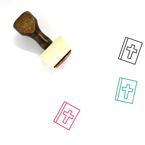 Bible Wooden Rubber Stamp No. 83