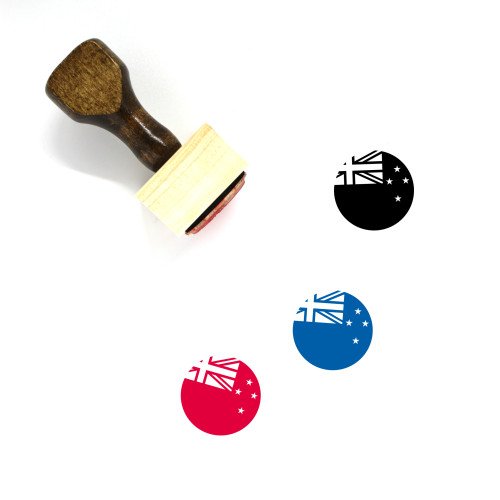 Flag Of New Zealand Wooden Rubber Stamp No. 2