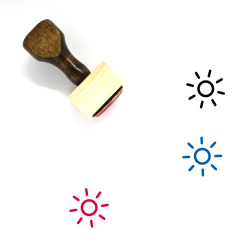Sun Wooden Rubber Stamp No. 353