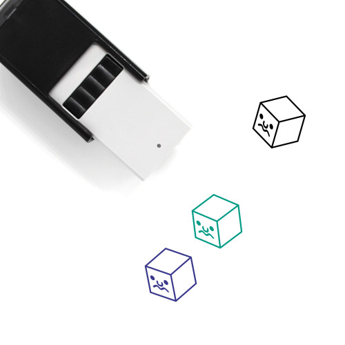 Queasy Cube Face Self-Inking Rubber Stamp No. 1