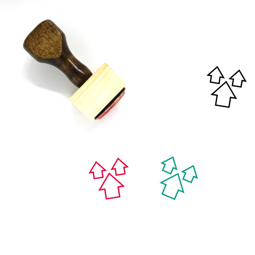 3 Arrows Wooden Rubber Stamp No. 1