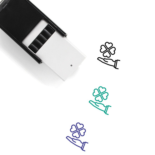 Four Leaf Clover Self-Inking Rubber Stamp No. 44