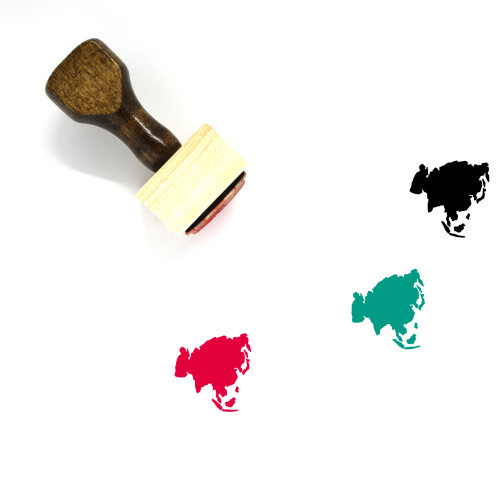 Asia Wooden Rubber Stamp No. 27