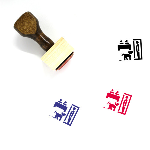 Cheating Wooden Rubber Stamp No. 2