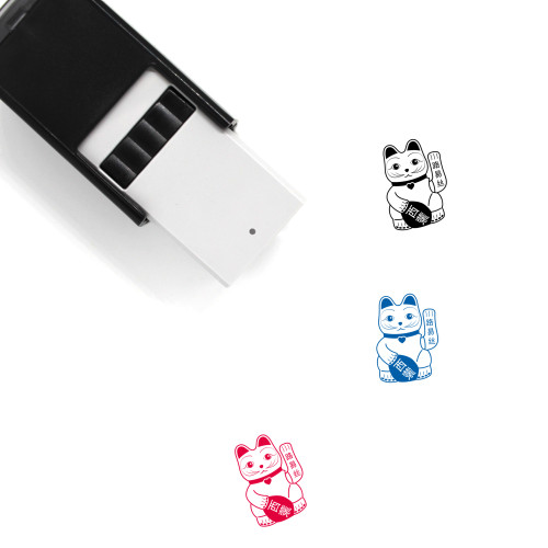 Lucky Cat Self-Inking Rubber Stamp No. 4