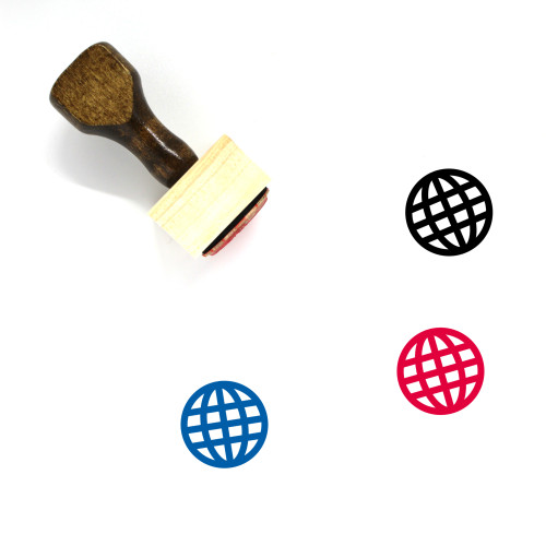 Globe Wooden Rubber Stamp No. 299
