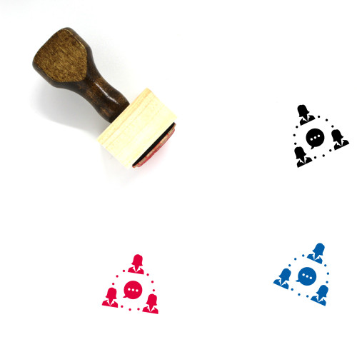 Business Group Wooden Rubber Stamp No. 7