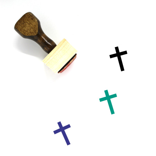 Cross Wooden Rubber Stamp No. 234