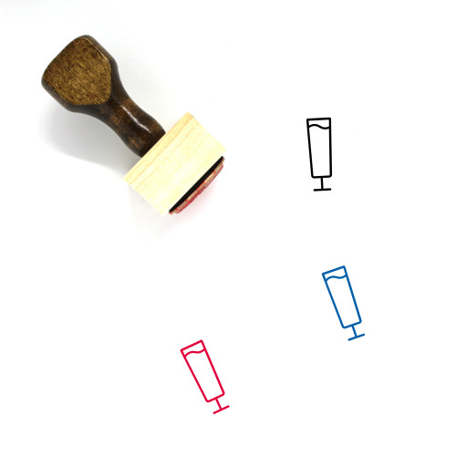Alcohol Wooden Rubber Stamp No. 37