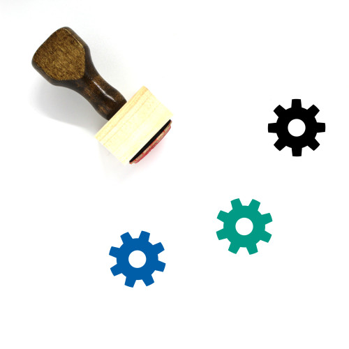 Gear Wooden Rubber Stamp No. 125