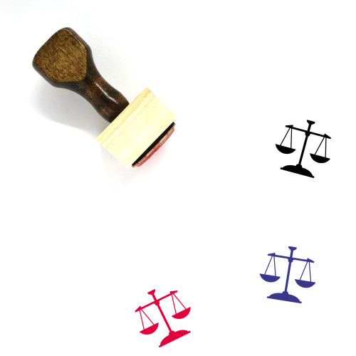 Balance Wooden Rubber Stamp No. 97