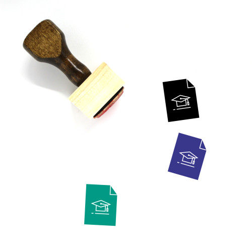 Academic Degree Wooden Rubber Stamp No. 12