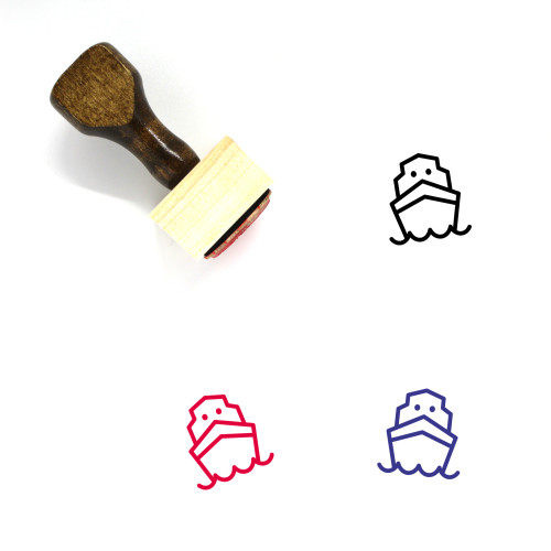 Ship Wooden Rubber Stamp No. 130