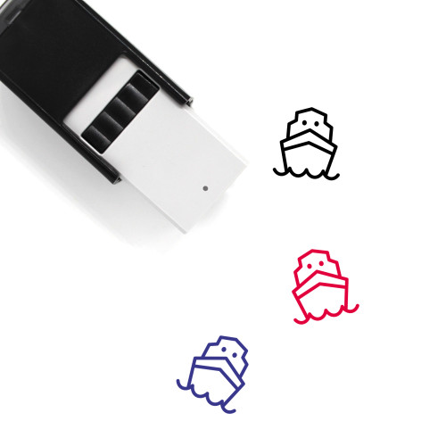 Ship Self-Inking Rubber Stamp No. 130