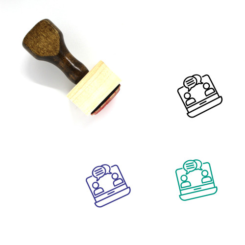 Communication Wooden Rubber Stamp No. 117
