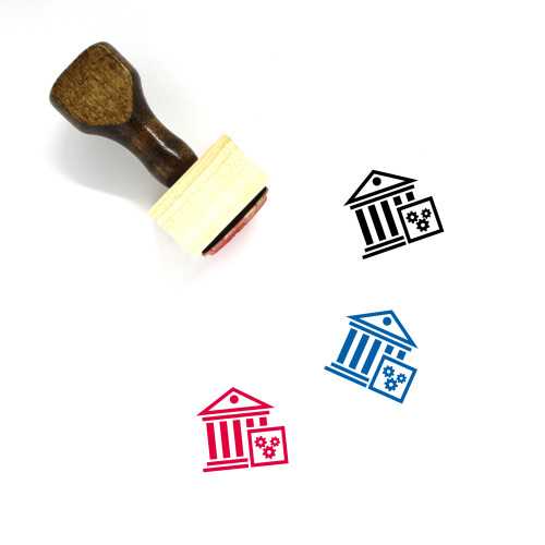 University Wooden Rubber Stamp No. 38
