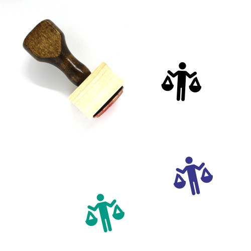 Balance Wooden Rubber Stamp No. 98