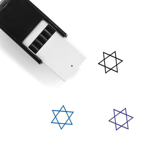 Star Of Deavid Self-Inking Rubber Stamp No. 1