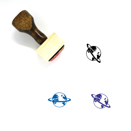 Global Shipping Wooden Rubber Stamp No. 2