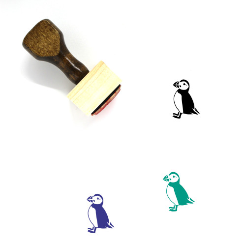 Puffin Wooden Rubber Stamp No. 6