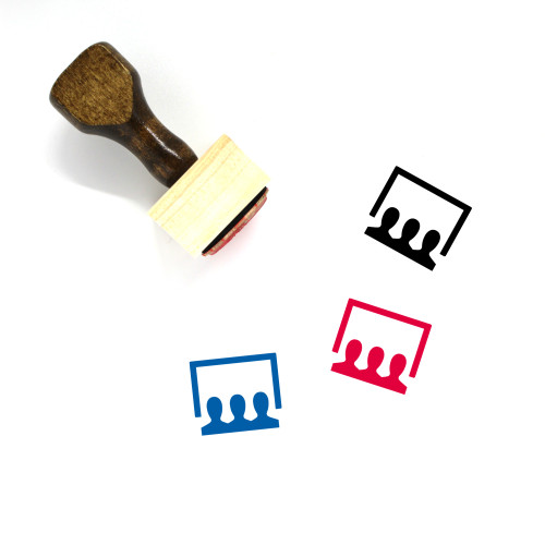 Audience Wooden Rubber Stamp No. 8