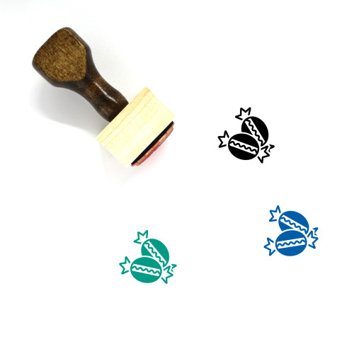 Bonbon Wooden Rubber Stamp No. 2