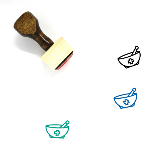 Herbal Therapy Wooden Rubber Stamp No. 1