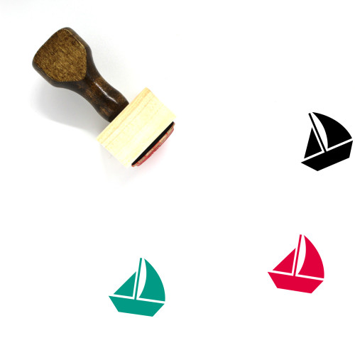 Sail Boat Wooden Rubber Stamp No. 15