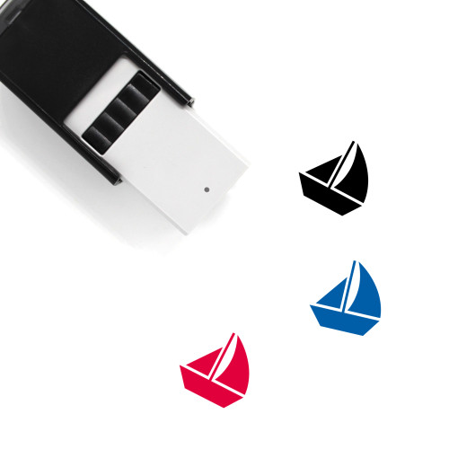 Sail Boat Self-Inking Rubber Stamp No. 15