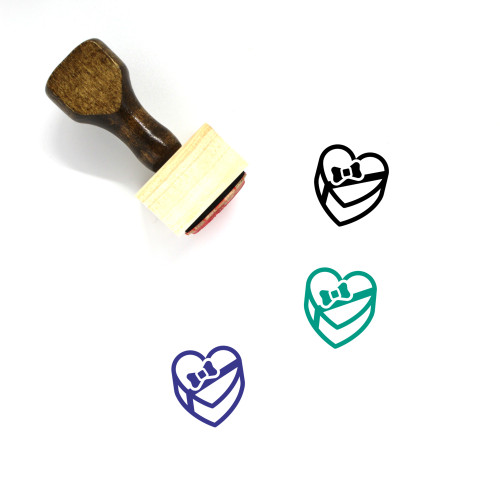 Chocolate Box Wooden Rubber Stamp No. 3