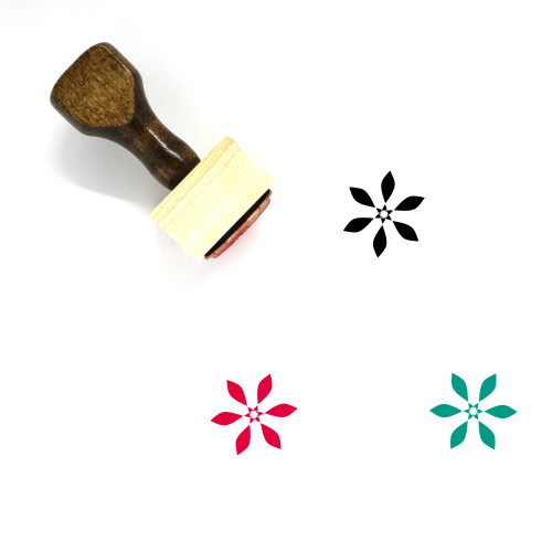 Abstract Flower Wooden Rubber Stamp No. 16