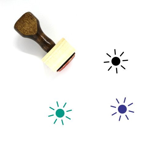 Sun Wooden Rubber Stamp No. 354