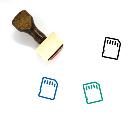 Memory Card Wooden Rubber Stamp No. 59