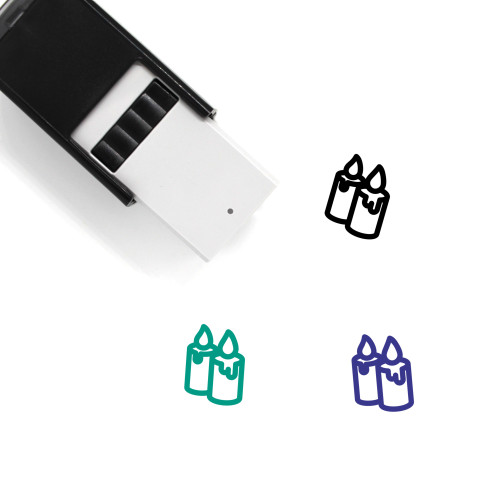 Candles Self-Inking Rubber Stamp No. 76