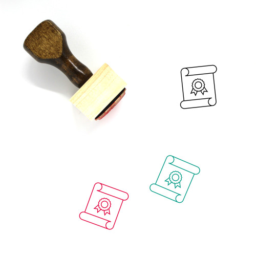 Academic Degree Wooden Rubber Stamp No. 13