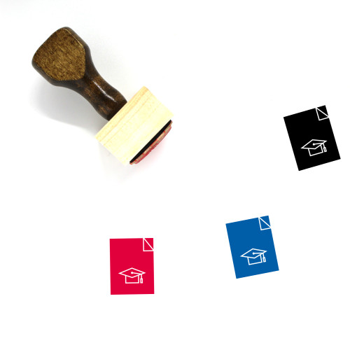 Academic Degree Wooden Rubber Stamp No. 14
