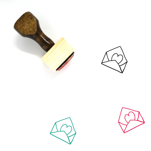 Love Letter Wooden Rubber Stamp No. 174