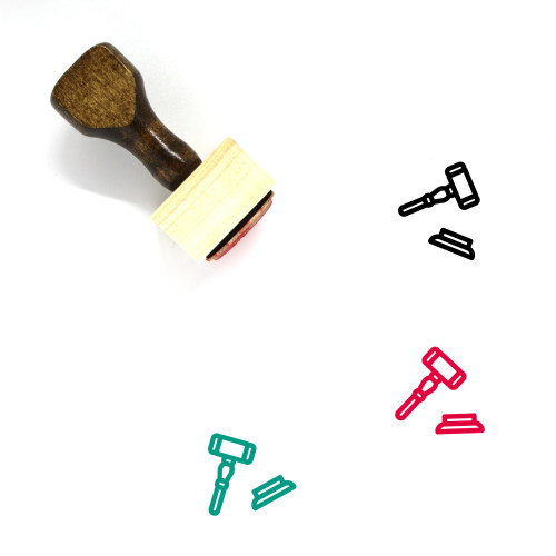 Gavel Wooden Rubber Stamp No. 124