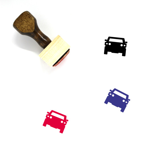 Car Wooden Rubber Stamp No. 331