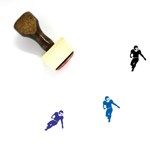 American Football Wooden Rubber Stamp No. 49