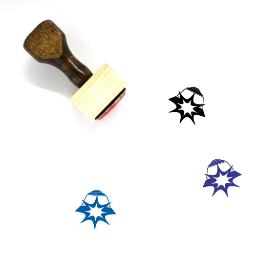 Accident Ahead Wooden Rubber Stamp No. 1