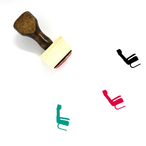 Airplane Seat Wooden Rubber Stamp No. 1