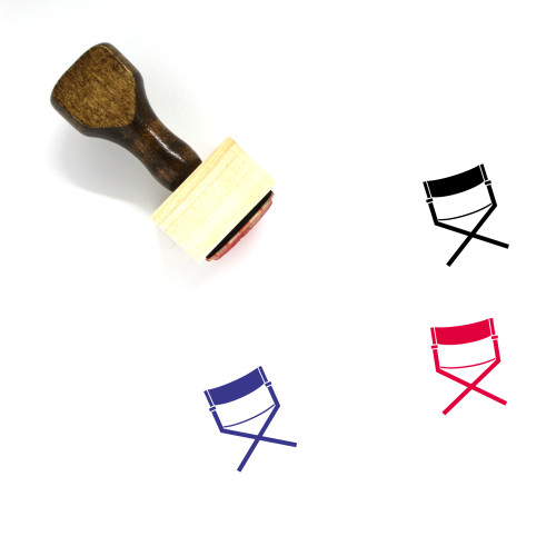 Directors Chair Wooden Rubber Stamp No. 11