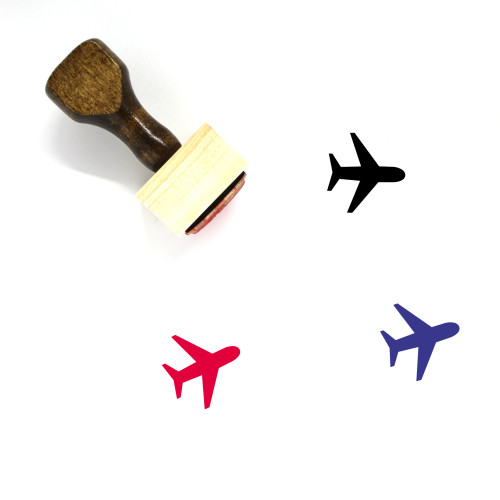 Airport Wooden Rubber Stamp No. 5