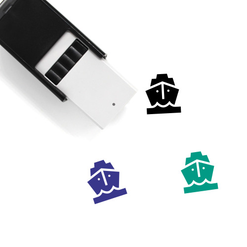 Ship Self-Inking Rubber Stamp No. 132