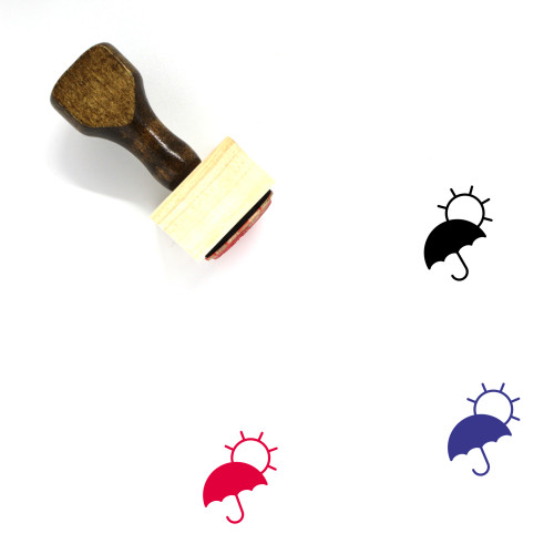 Hot Weather Wooden Rubber Stamp No. 9
